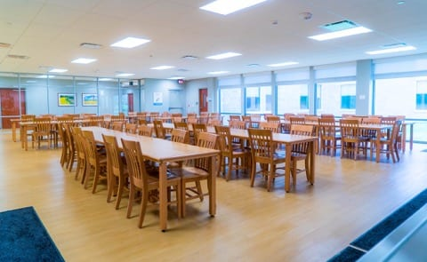 Cafeteria, where our patients enjoy their meals
